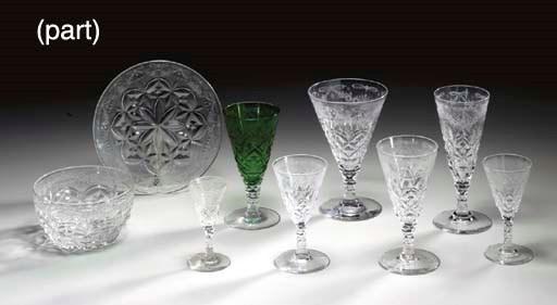 A CUT GLASS PART STEMWARE SERV