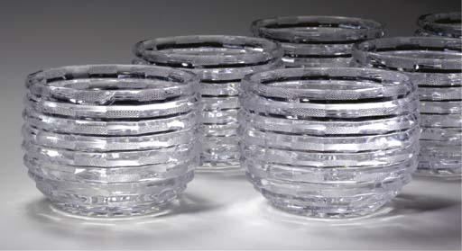 TWELVE GLASS BOWLS