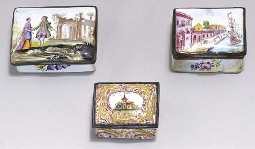 THREE STAFFORDSHIRE ENAMEL SNU