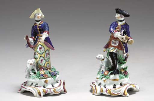 A PAIR OF BOW FIGURES OF A HUN