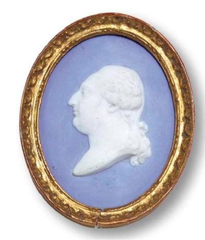 A FRENCH BLUE JASPER DIP PORTR