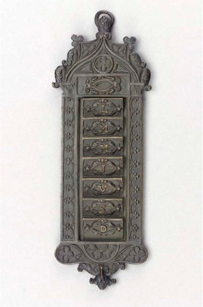 A French bronze card-holder