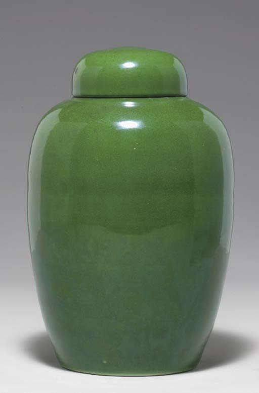 A CHINESE GREEN-GLAZED PORCELA