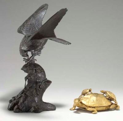A Bronze Censer and a Gilt-Bro