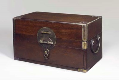 A ZITAN RECTANGULAR BOX , XIAO
