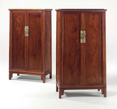 A PAIR OF HUANGHUALI TAPERED S