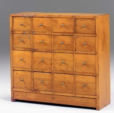 A PINE APOTHECARY CHEST