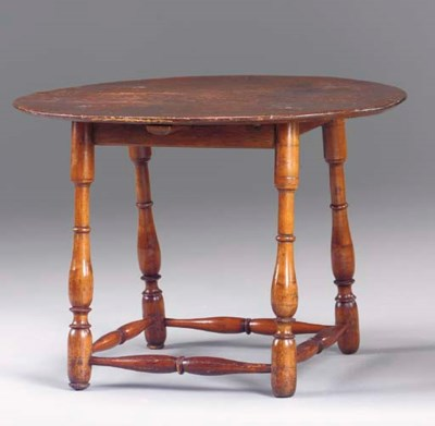 A MAPLE AND PINE TAVERN TABLE