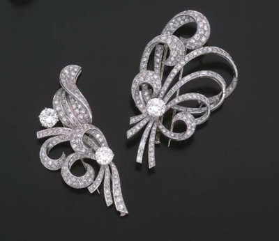 BROCHE DOUBLE CLIP DIAMANTS