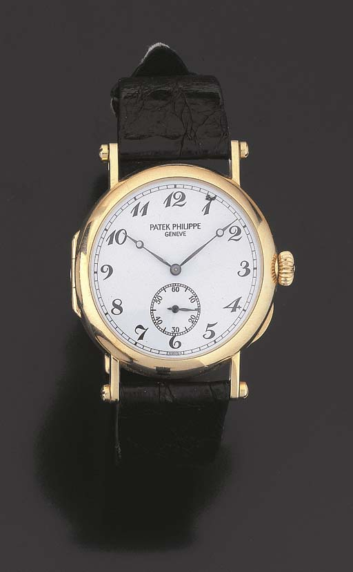 MONTRE D'OFFICIER EN OR, PAR P