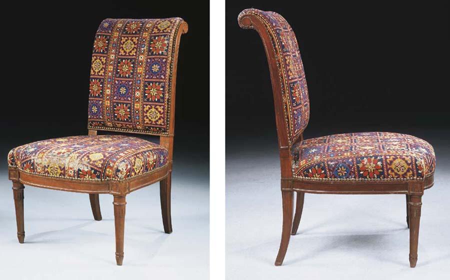 chaise chauffeuse d 39 epoque louis xvi attribuee a claude sene christie 39 s. Black Bedroom Furniture Sets. Home Design Ideas