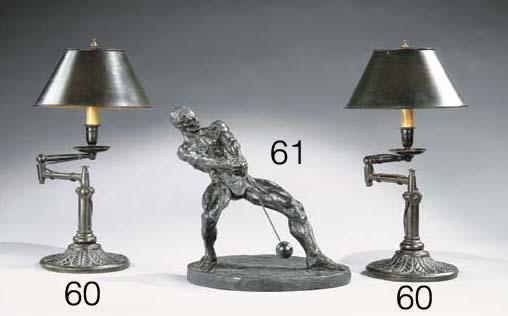 PAIRE DE LAMPES DE BUREAU DU X