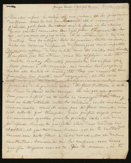 SAND, George (1804-1876). Lett
