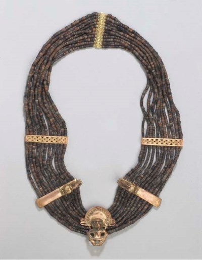 COLLIER EN OR ET PIERRE