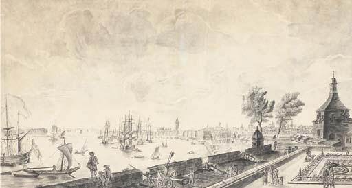 Ecole fran aise 18 me si cle vue du port de bordeaux - Vue du port de bordeaux joseph vernet ...