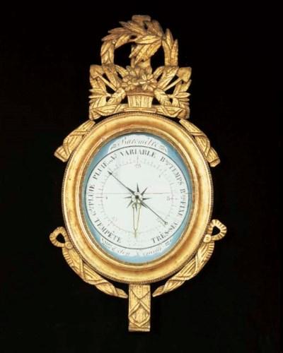 BAROMETRE D'EPOQUE LOUIS XVI
