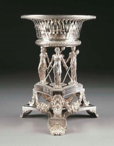 Centro tavola in argento Willi