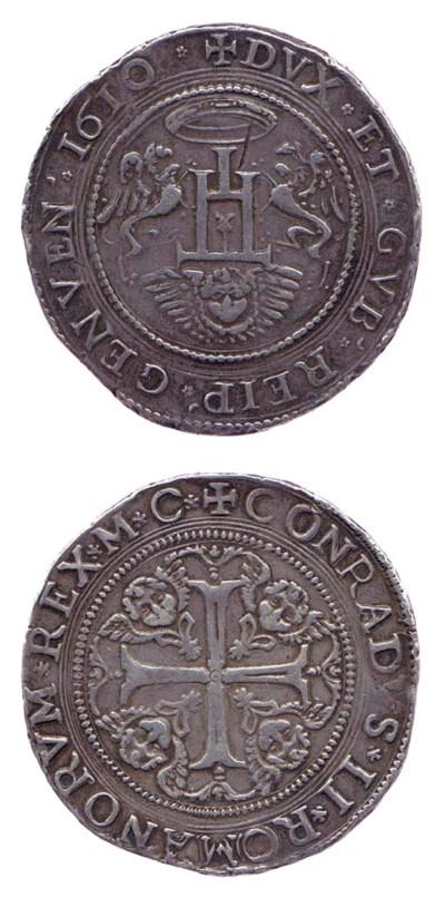 Due Scudi, 1610, 75.971g., +DV