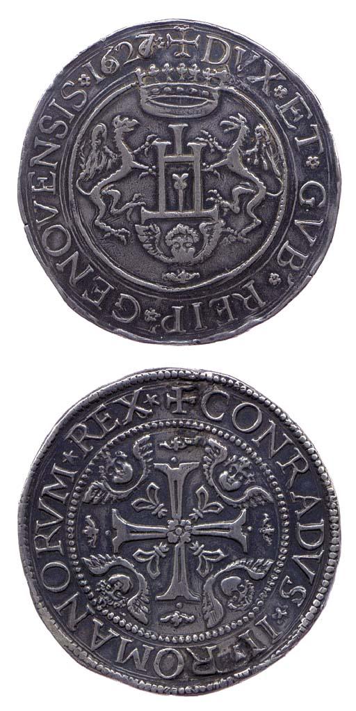 Due Scudi, 1627/6, 75.684g., +