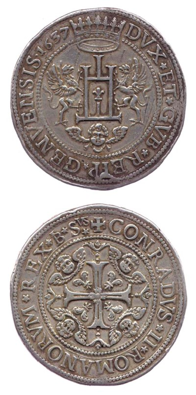 Due Scudi, 1637/6, 75.658g., D