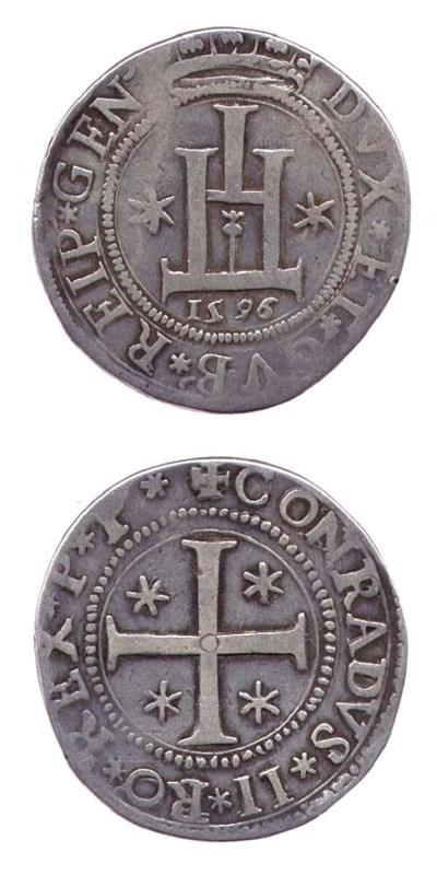 Scudo, 1596, 34.005g., DVX* ET