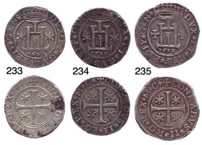 Mezzo Scudo, 1608, 19.136g., c