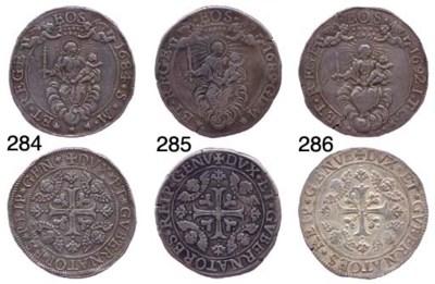Due Scudi, 1689, 74.429g., com