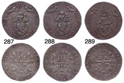 Due Scudi, 1697, 76.193g., com