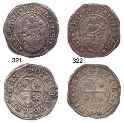 Scudo Stretto, 1664, 38.332g.,