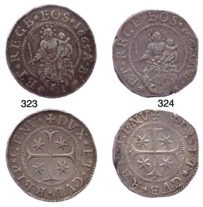 Scudo Stretto, 1665, 38.155g.,