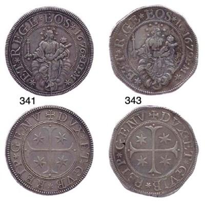 Scudo Stretto, 1679, 35.546g.,