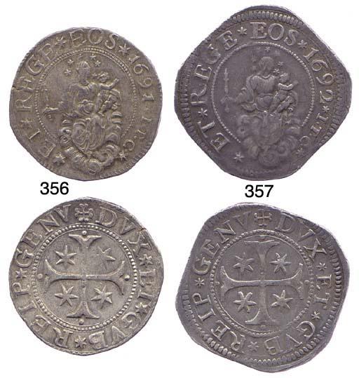 Scudo Stretto, 1691, 38.402g.,