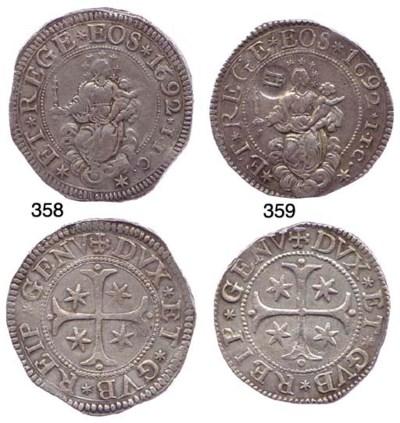 Scudo Stretto, 1692, 38.317g.,