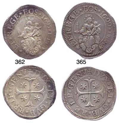 Scudo Stretto, 1695, 38.431g.,