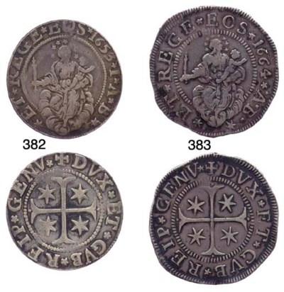 Mezzo Scudo Largo, 1664, 18.85