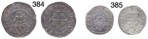 Mezzo Scudo Stretto, 1654, 18.