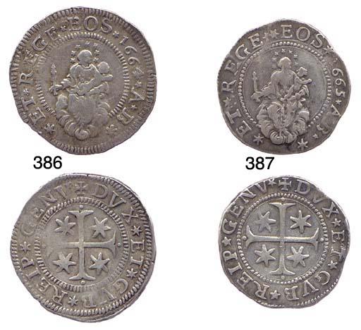Mezzo Scudo Stretto, 1664, 19.