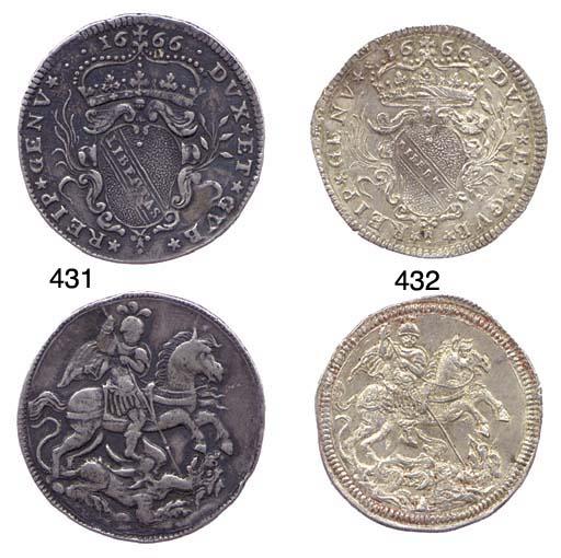 8-Reali, 1666, 25.251g., DVX*