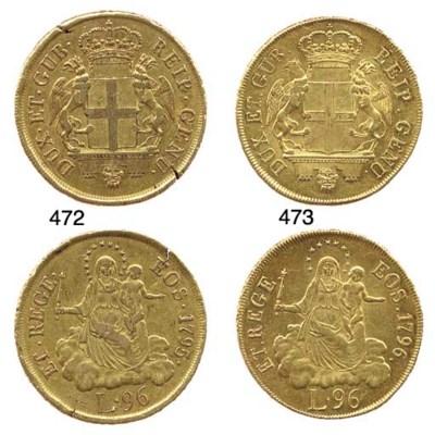 96-Lire, 1796, come prec., cor