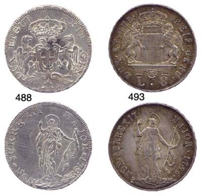 8-Lire, 1792, primo tipo, stem