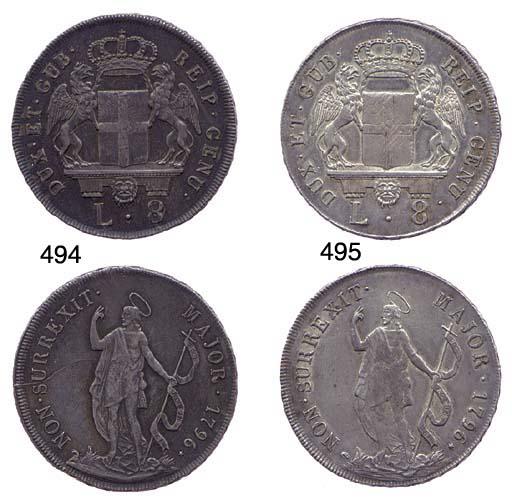 8-Lire, 1796, come prec., mBB