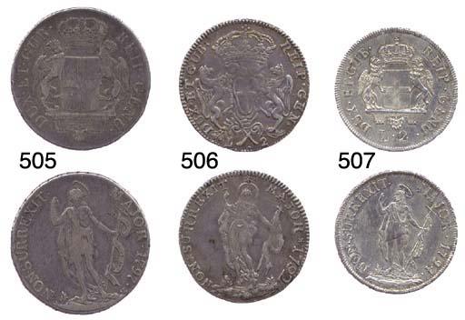 2-Lire, 1792, primo tipo (CNI.