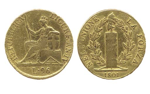 96-Lire, 1801, ANNO IV, come p