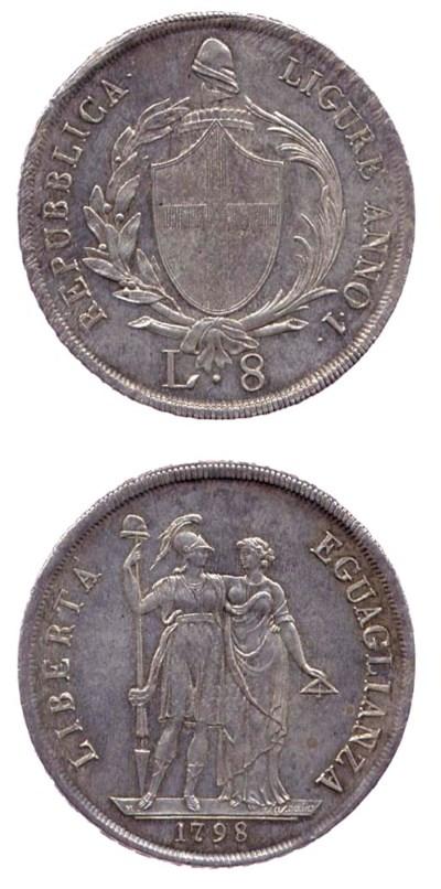 8-Lire, 1798, REPUBBLICA LIGUR