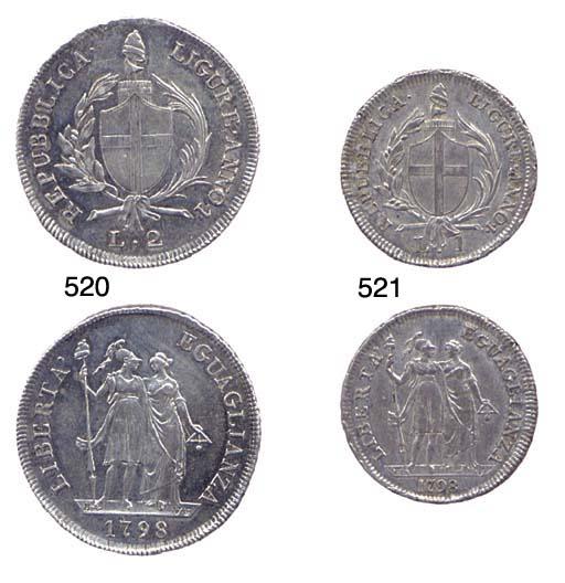 2-Lire, 1798, ANNO I, come pre