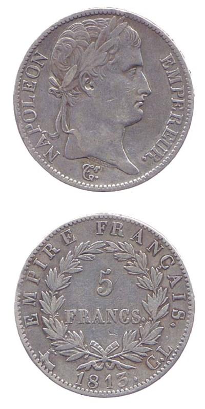 5-Francs, 1813, testa a destra