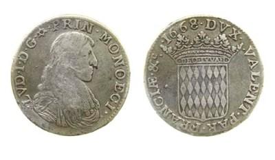 Louis I Grimaldi, Scudo, 1668,