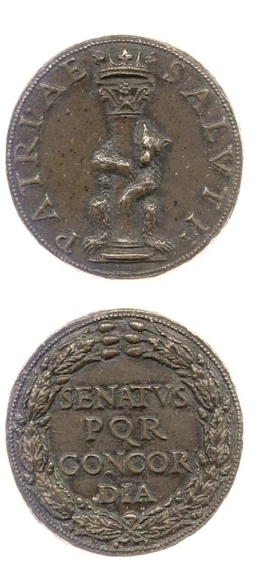 Roma, medaglia in bronzo, 35mm
