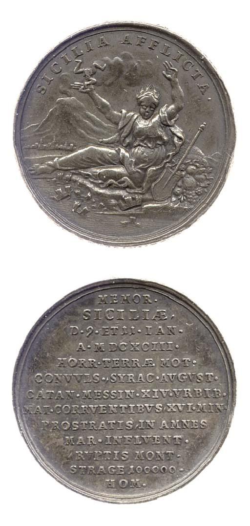 Sicilia Afflicta 1693, medagli