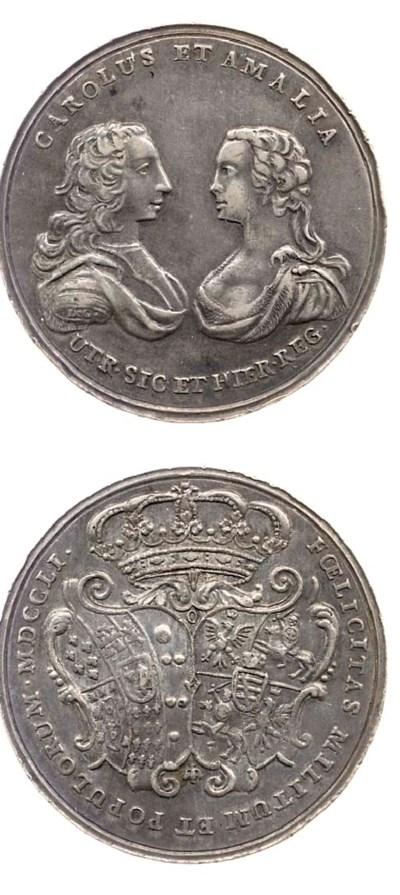 Carlo III e Amelia, medaglia p